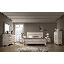 Shop Imerland Contemporary White Wash Finish 6-Piece Bedroom Set ...