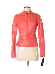 black rivet faux leather jacket size 0 00 red women s jackets outerwear new with tags 31 99