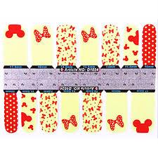 359 Yemannvyou1x14pcs 1 Vzor Karikatura Mickey Mouse Motýl Vzor Full Cover Nehty Samolepky