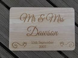 personalised wooden end chopping board mr mrs wedding gift 5th fifth avi size large 330mm x 250mm 7521 p jpg