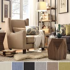 INSPIRE Q Henry Wingback Nailhead Upholstered Club Chair with Pillow -  Overstock Shopping - Great  Home Living RoomLiving ...