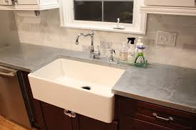 a sink residential kitchen zinc countertop