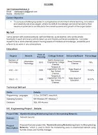 Mechanical Fresher Resume Format Nmdnconference Example Cool Mechanical Fresher Resume Format