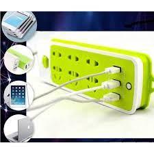 Ổ Cắm Điện Đa Năng Chống Giật Có 3 Cổng USB – Sạc Trực Tiếp – Tiết Kiệm Điện  – Bộ Ổ Cắm Điện Xanh Lá Cao Cấp Chính Hãng Amalife - DE30