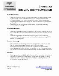 Objectives For Resumes Custom Resume Career Objectives Resume Example Objective Examples Good