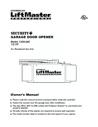liftmaster professional garage door opener owner s manual 1265lmc 1 2 hp manuals garage door opener users guides page 4