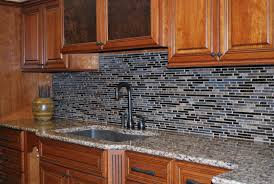 Mosaic Tile Kitchen Backsplash Kitchen Design White Marble Countertop Excellent Glass Mosaic