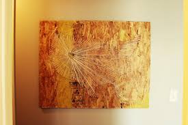 String Art Diy Map String Art With An Industrial Vibe