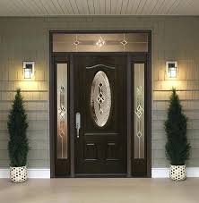 fiberglass front entry doors with one sidelight sidelights and transoms door