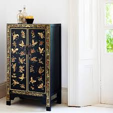 oriental inspired furniture. Medium Black Chinese Cabinet In Wood Oriental Inspired Furniture M