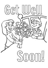 Get Well Soon Friend Coloring Page Coloring For Kids 2019