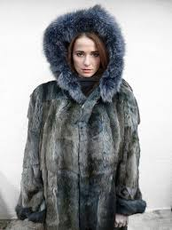 Spectacular Blue Mink <b>Ladies</b> Fur Coat <b>Jacket</b> Signed Luigi di ...