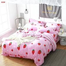 fleece bedding set next home textile winter warm strawberry whale king queen flannel duvet cover soft kids