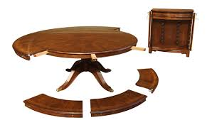 Expandable Round Walnut Dining Table Formal Traditional - Walnut dining room furniture