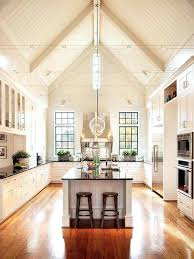 best lighting for vaulted ceilings kitchen light fixture slanted