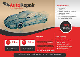 Auto Repair Flyer Get Best Promotional Auto Repair Flyers Designing And