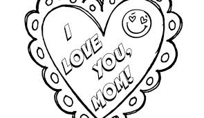 Small Picture I Love You Mom Mothers Day Coloring Page Free Printable No