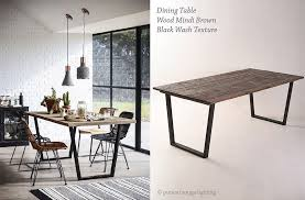 industrial style dining room lighting. Industrial Style Dining Room With Table By Piment Rouge Lighting Homeware Design Bali N