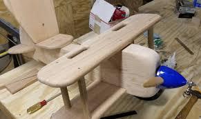 kid s wooden airplane ride on rocker toy by eccentricwork