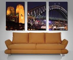 on wall art sydney with sydney harbour triptych 3 piece wall art dunn furniture