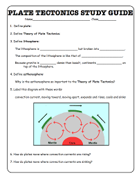 Plate Tectonics Worksheets For Middle School Free Worksheets ...