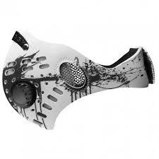 Rz Mask M1 White Splat Air Filtration Adult Xl Protective Masks