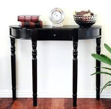black half moon console table. Modren Table Half Moon Entryway Table Medium Size Of Glossy Black Wooden  Console With Small  On Black Half Moon Console Table L