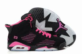 jordan shoes for girls black and pink. comfortable air jordan 6 embroided black pink 41163 204 for fashion girl shoes girls and n