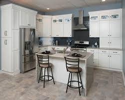 splendid kitchen furniture design ideas. Tiny Kitchen Island With Two Iron Stool Also White Shaker Cabinet And Blue Wall Painted Splendid Furniture Design Ideas A
