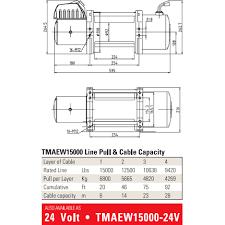 tmax tmaew15000 steel wire winch 12v winchworld image of tmax tmaew15000 steel wire winch 12v