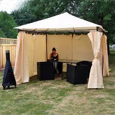garden gazebo. Kingfisher FSGHD Heavy Duty Garden Gazebo With Side Curtains - Beige: Amazon.co.uk: \u0026 Outdoors R