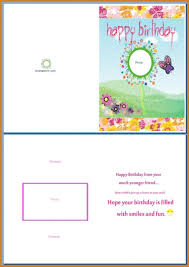 Card Word Template Greeting Card Template Word Template 21