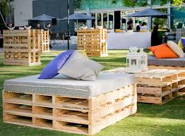 buy pallet furniture. Rustic Pallet Seats With Padded Top And Scattered Cushions Are The Where To Buy For Furniture