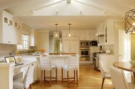 kitchen lighting ideas vaulted ceiling. White Kitchen With Vaulted Ceiling And Led Lighting Ideas