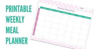 Weekly Menu Planner Template – Custosathletics.co