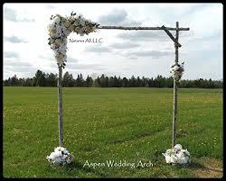 diy rustic aspen wedding arch