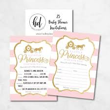 how to word a baby shower invitation 25 little princess baby shower invitations pink gold sprinkle invite for girl modern gender theme on her way cute printed fill or write in blank