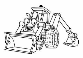 Small Picture Benny the Excavator from Bob the Builder Coloring Page Benny the