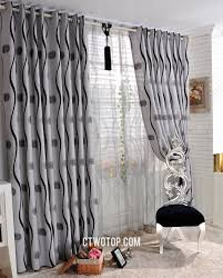 and black striped insulated casual modern pattern curtains