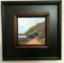 modern picture frames. Art: I Love Floater Frames For The Impact They Give To Smaller Paintings.  This Is A 6 X Painting Did Of Tennessee Valley, In Mill California Modern Picture