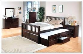 Queen Bed With Twin Trundle Twin Over Queen Bed Beds Twin Over Queen ...