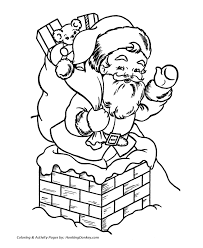 Small Picture Santa Claus Coloring Pages Santa Claus out of the Chimney