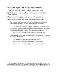 Essay Thesis Statement Examples Example Essay Thesis Sample Thesis