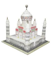 gyarah off white marble beautiful taj mahal in gift box