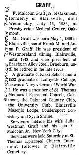 miscellaneous na county pennsylvania obituaries graff f malcolm