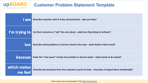 Template Of Statement Customer Problem Statements Online Templates Tools