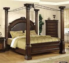Bed Frame ~ King Size Wooden Canopy Bed Frame Black Metal Sunburst ...
