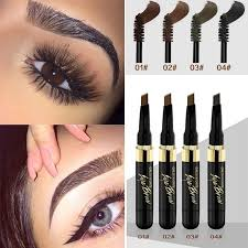 women eyebrow makeup waterproof pencil cosmetics brow eye liner tools 2in1 brown colors natural makeup perfect eyebrows from chinatradepany