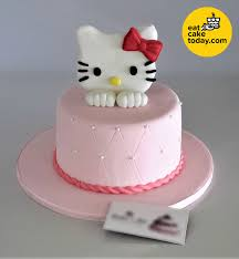 Hello Kitty Cake Customized With Quilted Handbag Effect Eat Cake To