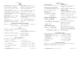 calculus review sheet calculus 1 cheat sheet pictures to pin on pinterest thepinsta